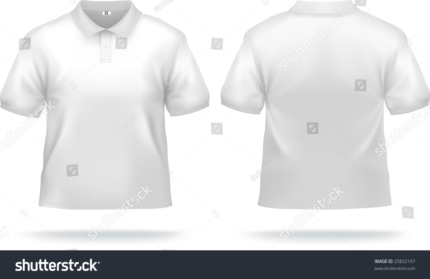 Shirt design white - White Polo Shirt Design Template Front Back Contains Gradient Mesh Elements