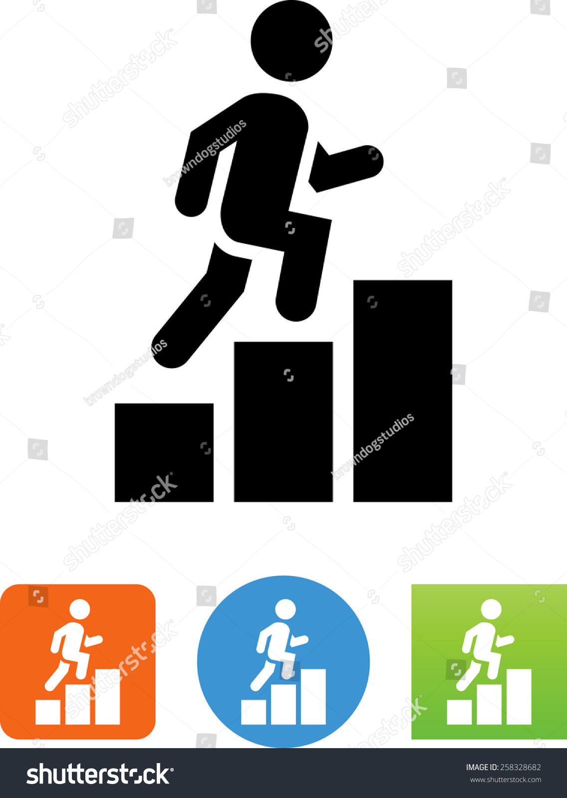 person climbing career path vector icons stock vector  person climbing a career path vector icons for video mobile apps web sites