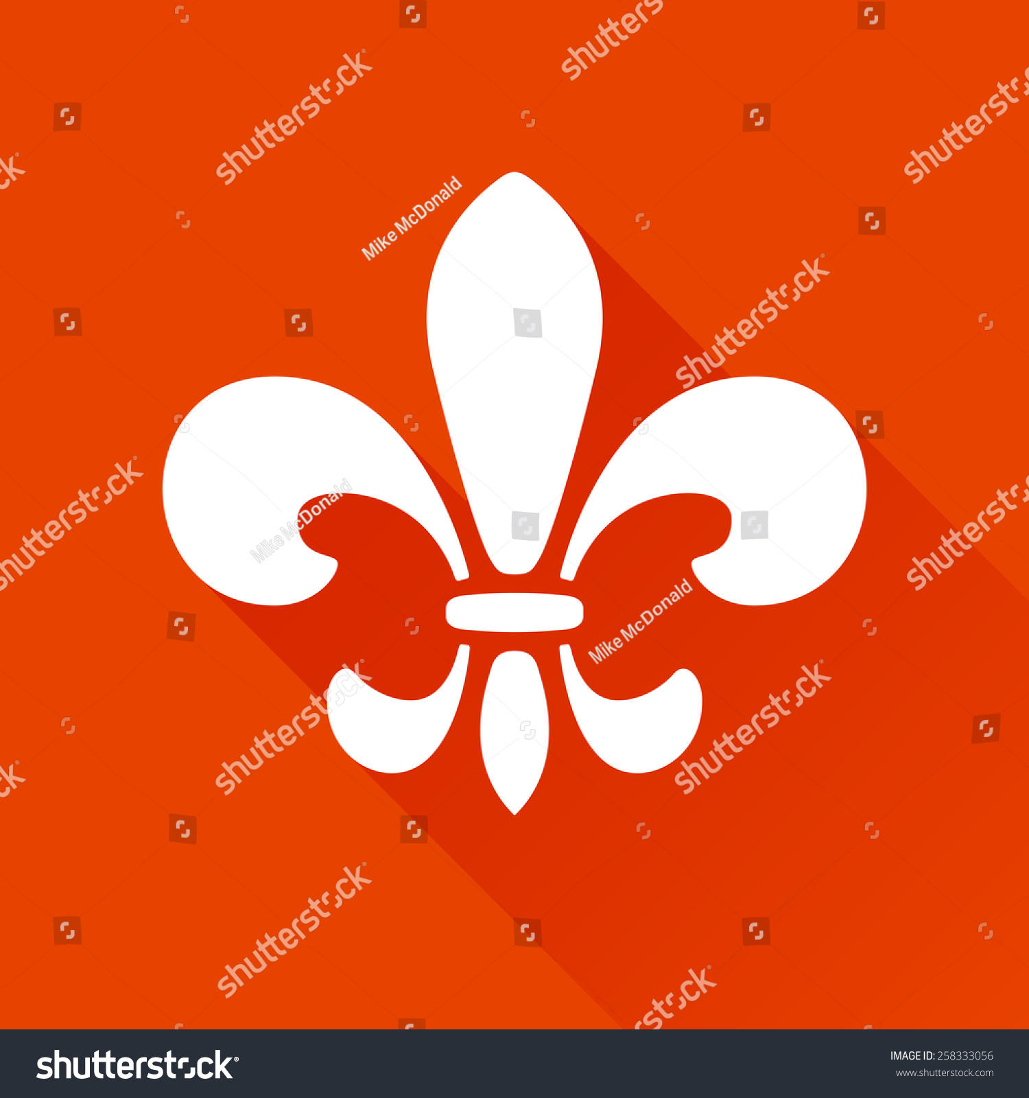 Fleur de lis graphic logo symbol stock vector 258333056 shutterstock fleur de lis graphic logo symbol with long shadow biocorpaavc