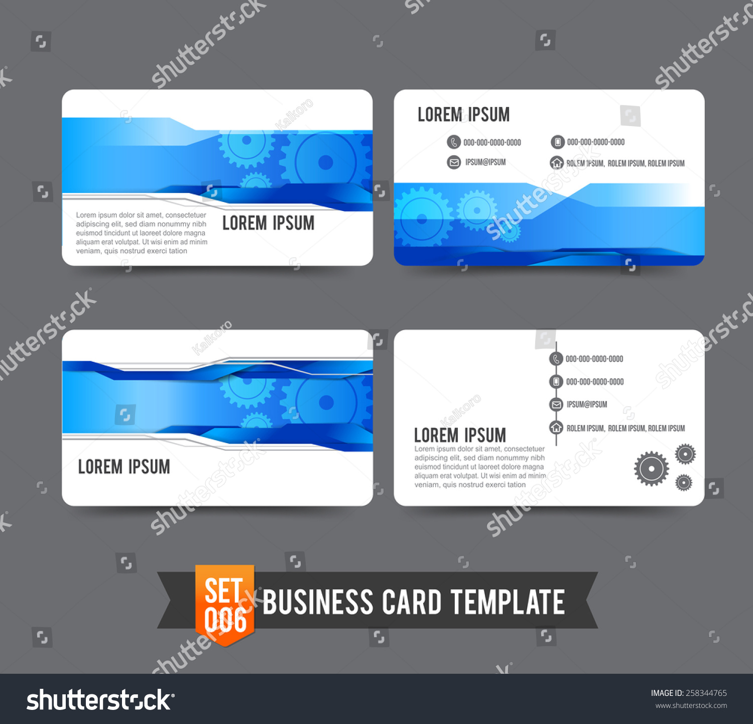 Gear Technology Concept Business Card Template Stock Vector ...