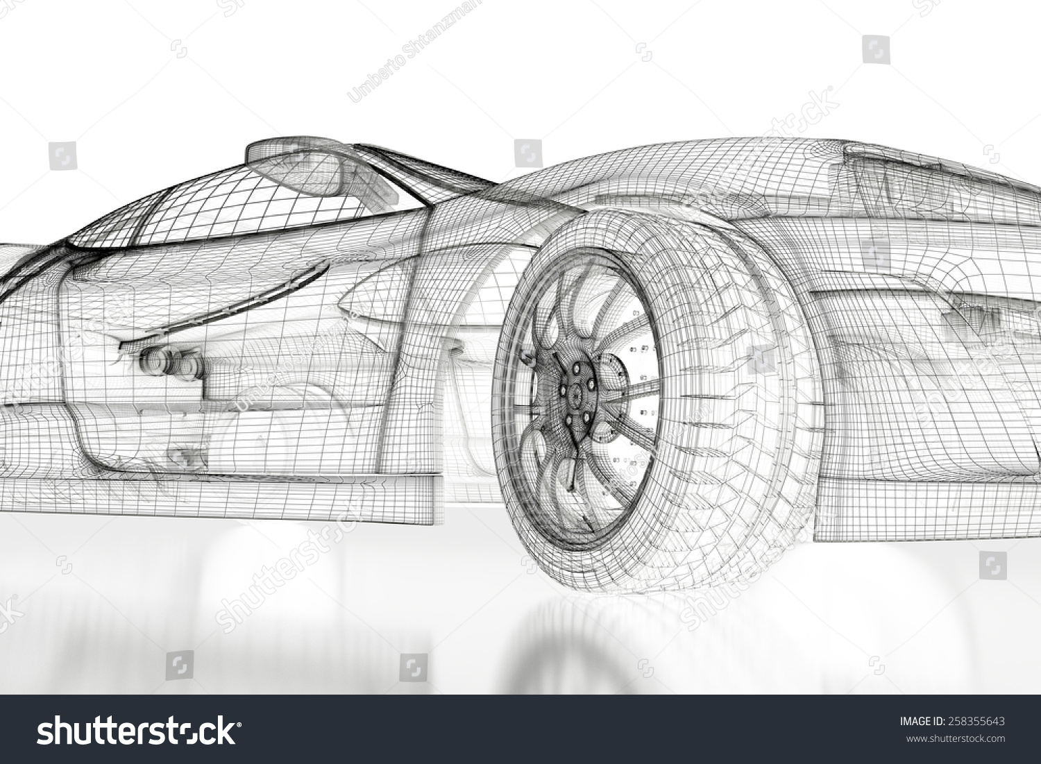 Car vehicle 3d blueprint model on a white background 3d rendered id 258355643 malvernweather Choice Image