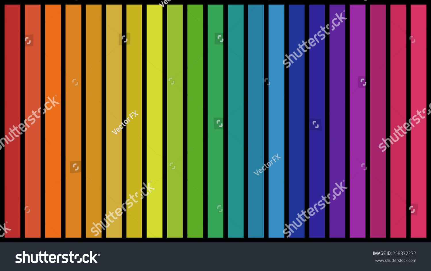 set all colors rainbow gradient vertical stock vector royalty free