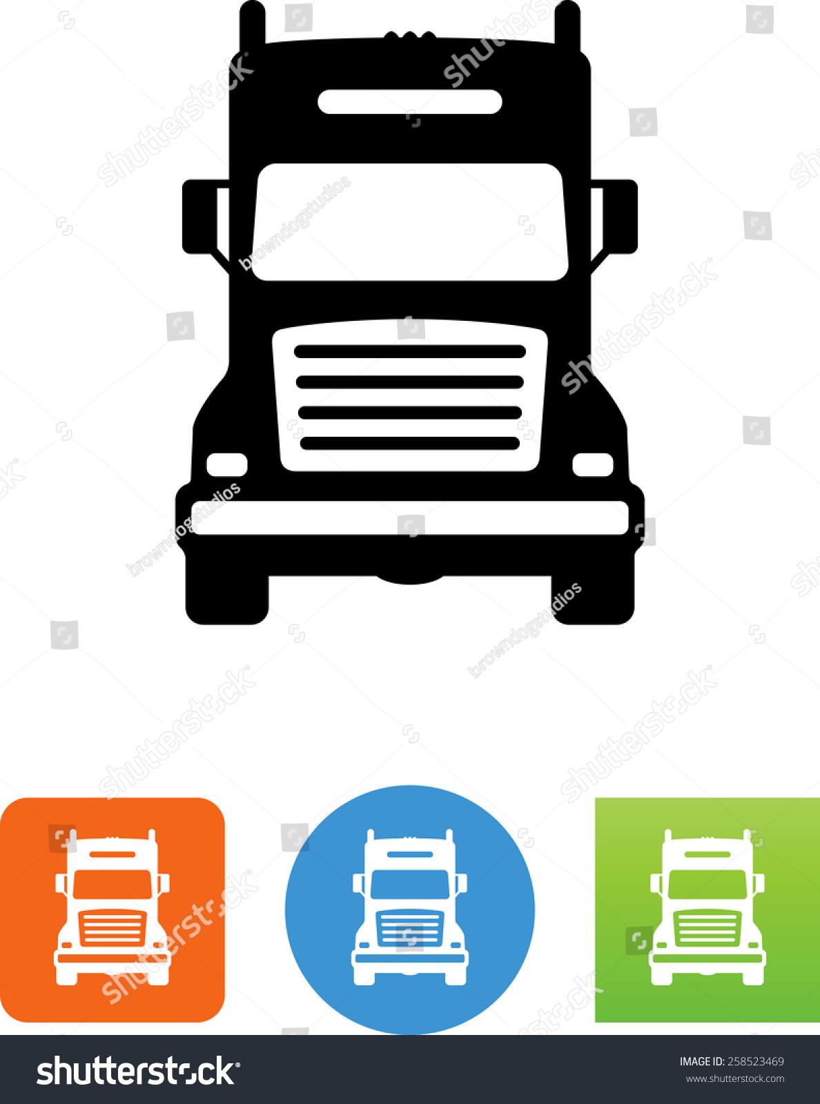 Truck symbol download vector icons video stock vector for Truck design app
