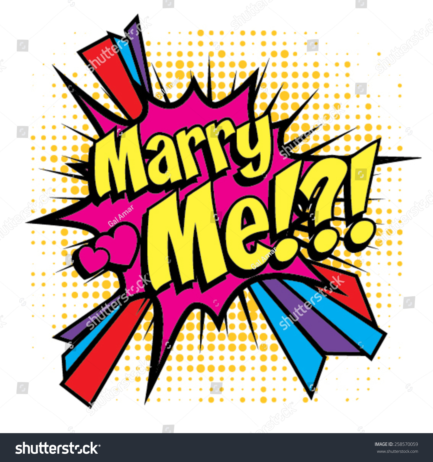 Pop Art Wedding Invitations Image Collections Party Comics Icon Marry Me Stock Vector