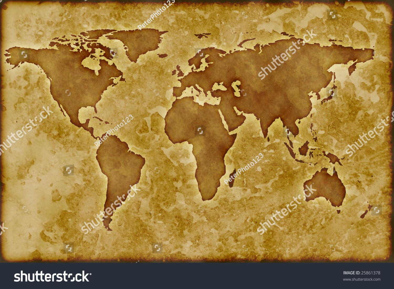 Old World Map Stock Illustration Shutterstock - Old world map