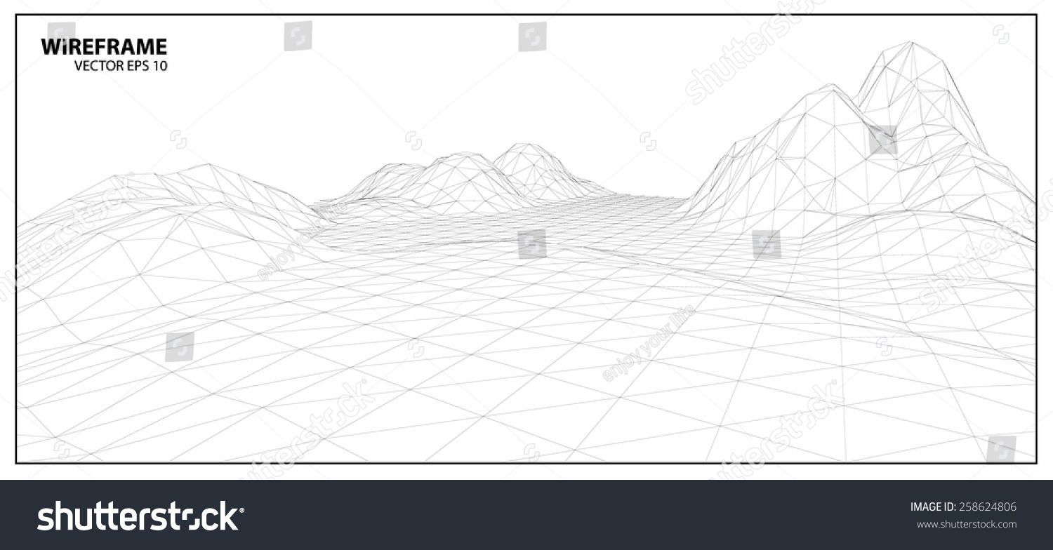 Wireframe Background For Graphic Design.Eps10 Vector