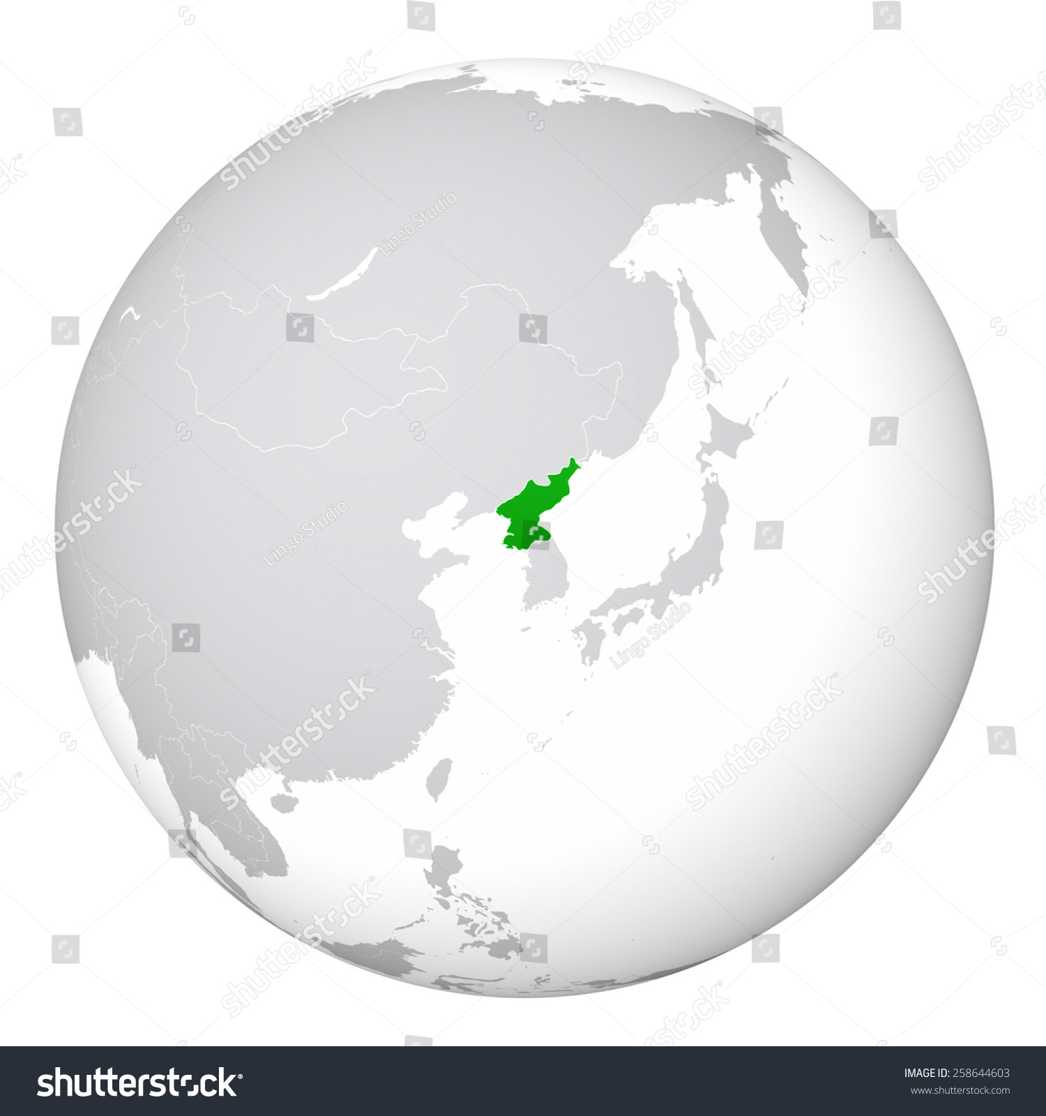 World map north korea stock illustration 258644603 shutterstock world map north korea gumiabroncs Gallery