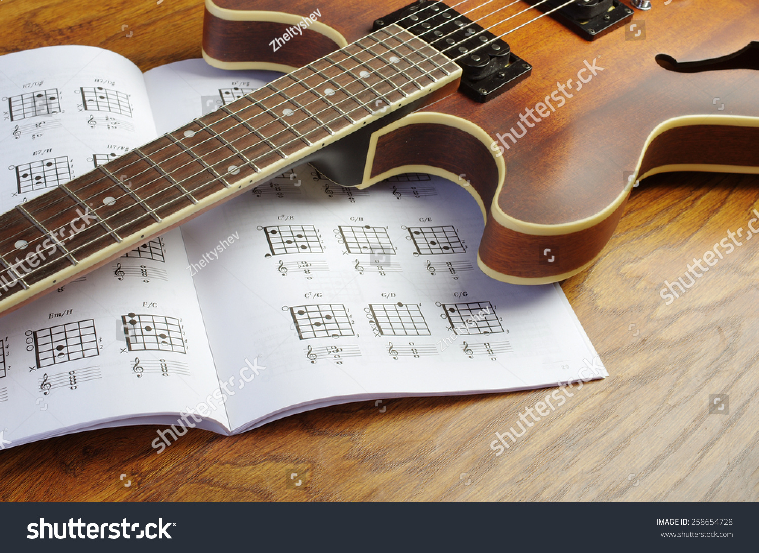 Guitar And Guitar Chords Stock Photo 258654728 : Shutterstock