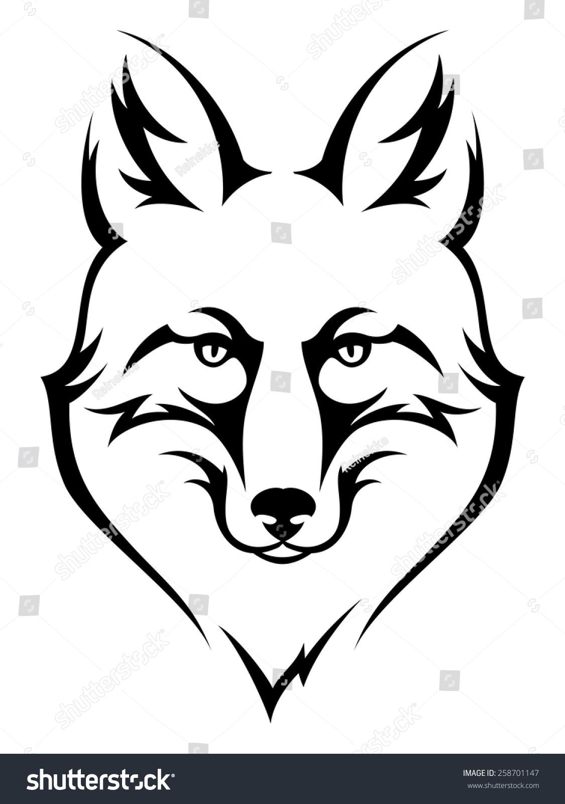 Simple fox head outline - photo#22