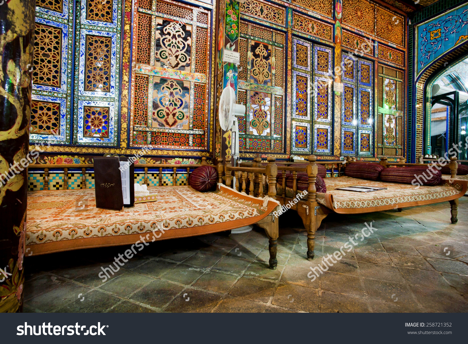 Isfahan Iran Oct 15 Interior Design Of Traditional