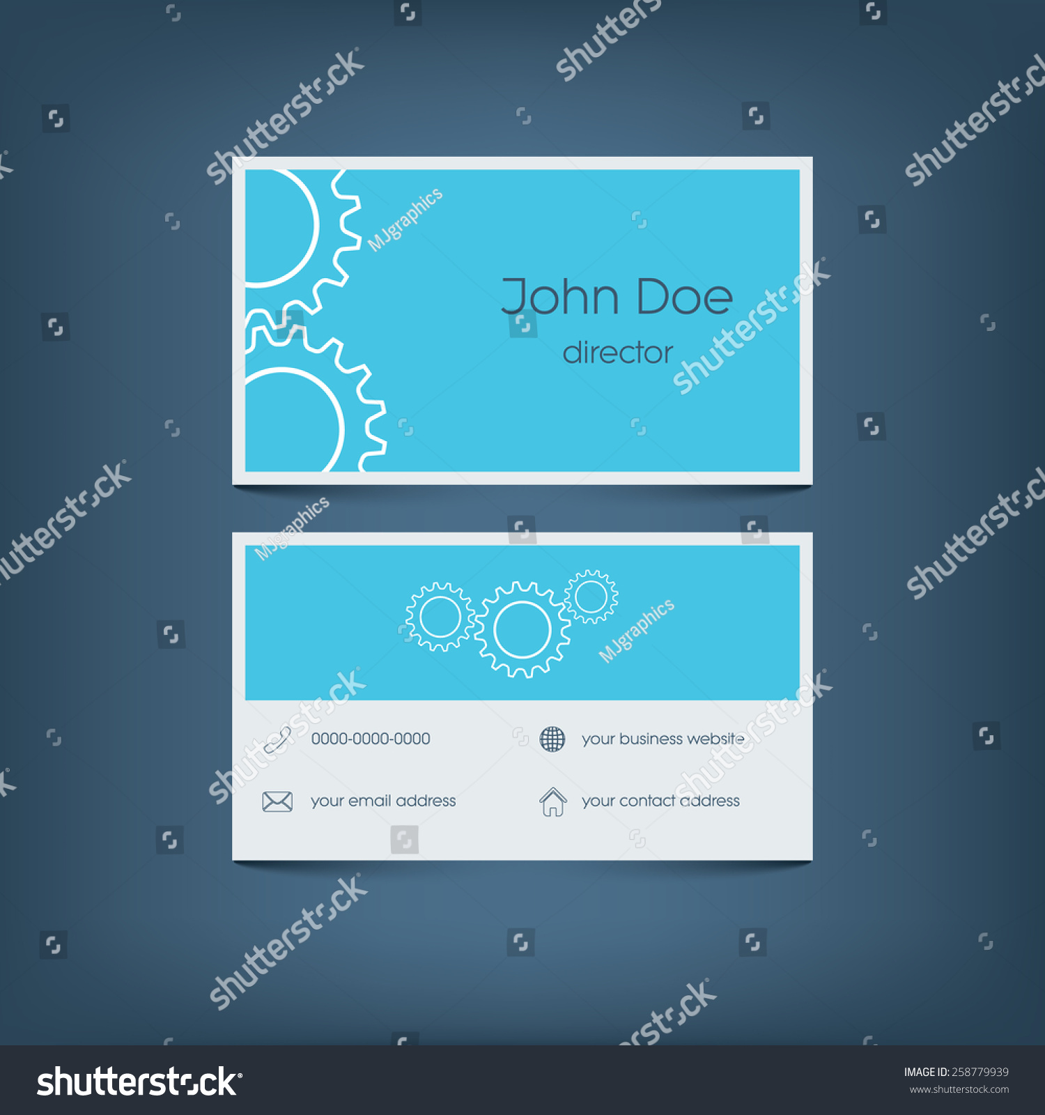 Modern flat design business card template stock vector 258779939 modern flat design business card template graphic user interface with line icons for website magicingreecefo Gallery