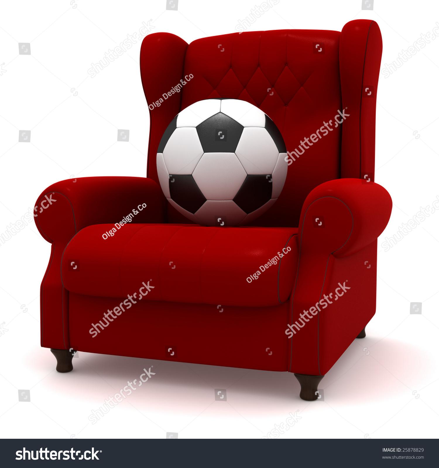 Soccer Ball Easy Chair Stock Illustration 25878829