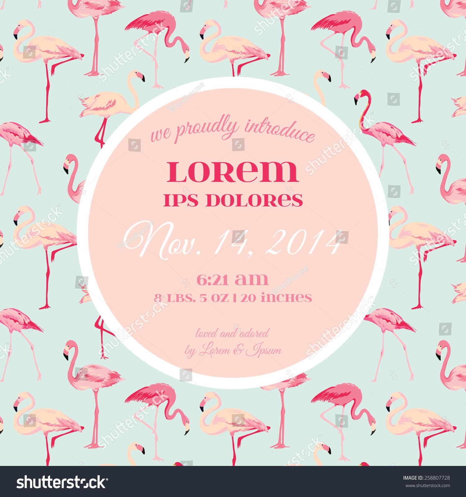 Flamingo Baby Shower Card – frenchkitten