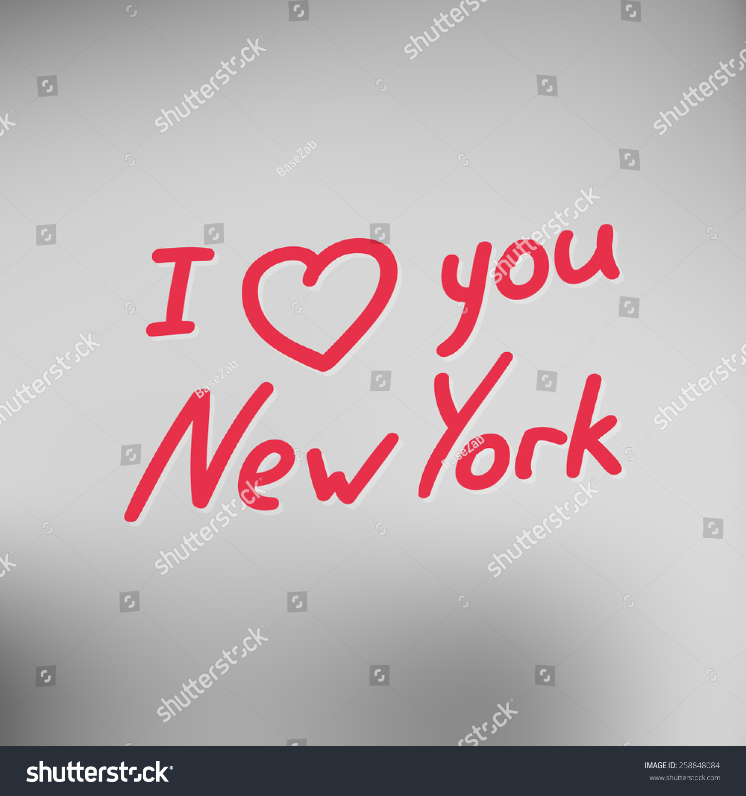 Love new york typographical background lettering stock