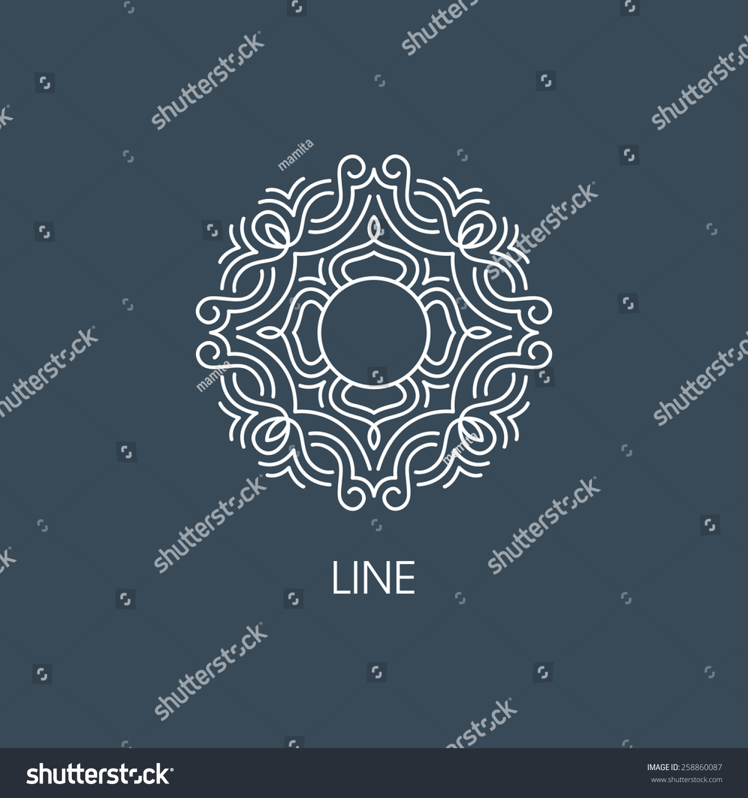 Geometric vector frame for text decoration illustration for A style text decoration