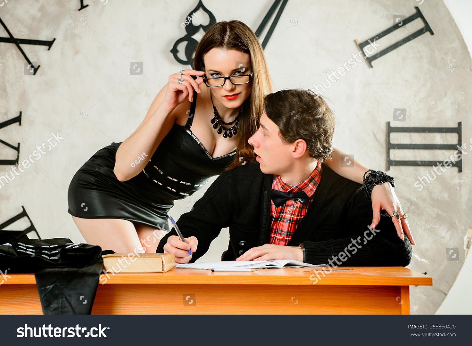 Bad Teacher Sexy Teacher Seducing Her Stock Photo -1089