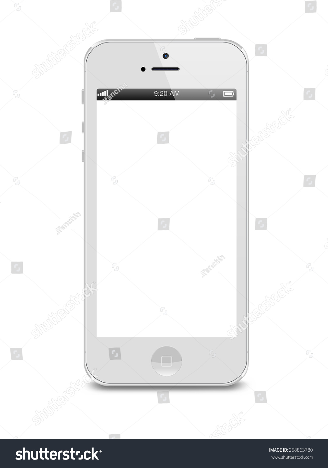 iphone white screen portlouis mauritius march 01 2015 white stock photo 12491