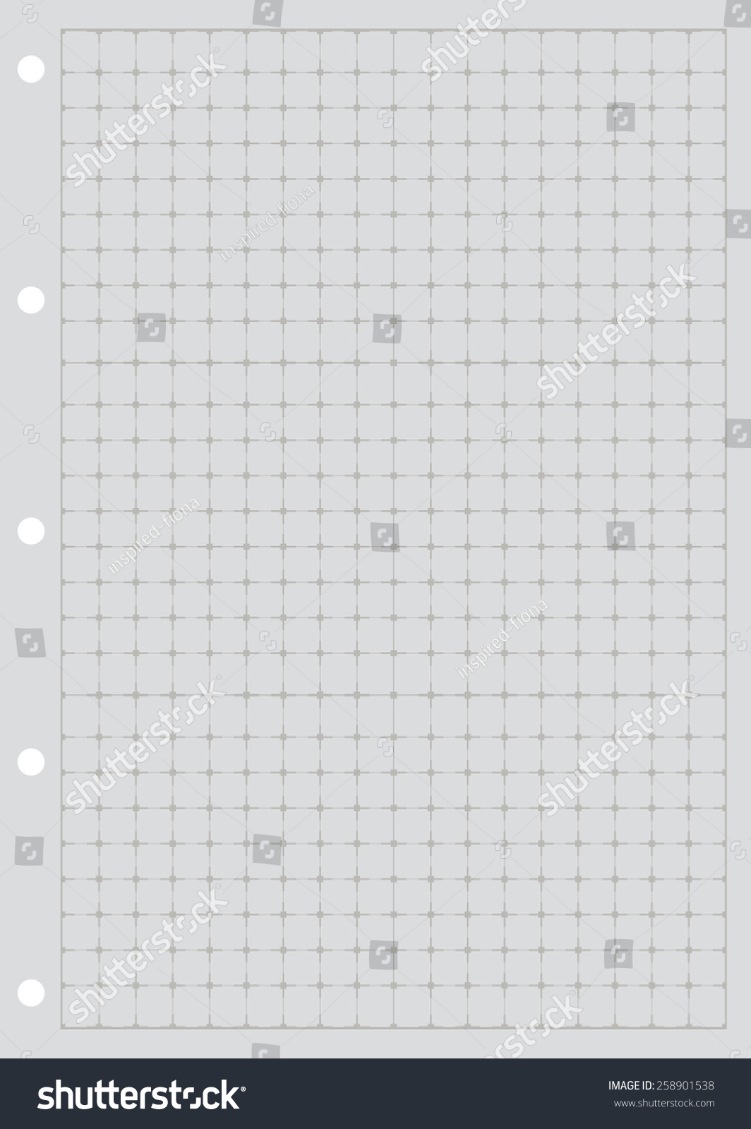 Sheet Paper Grid Notebook Graph Style Stock Vector 258901538 ...