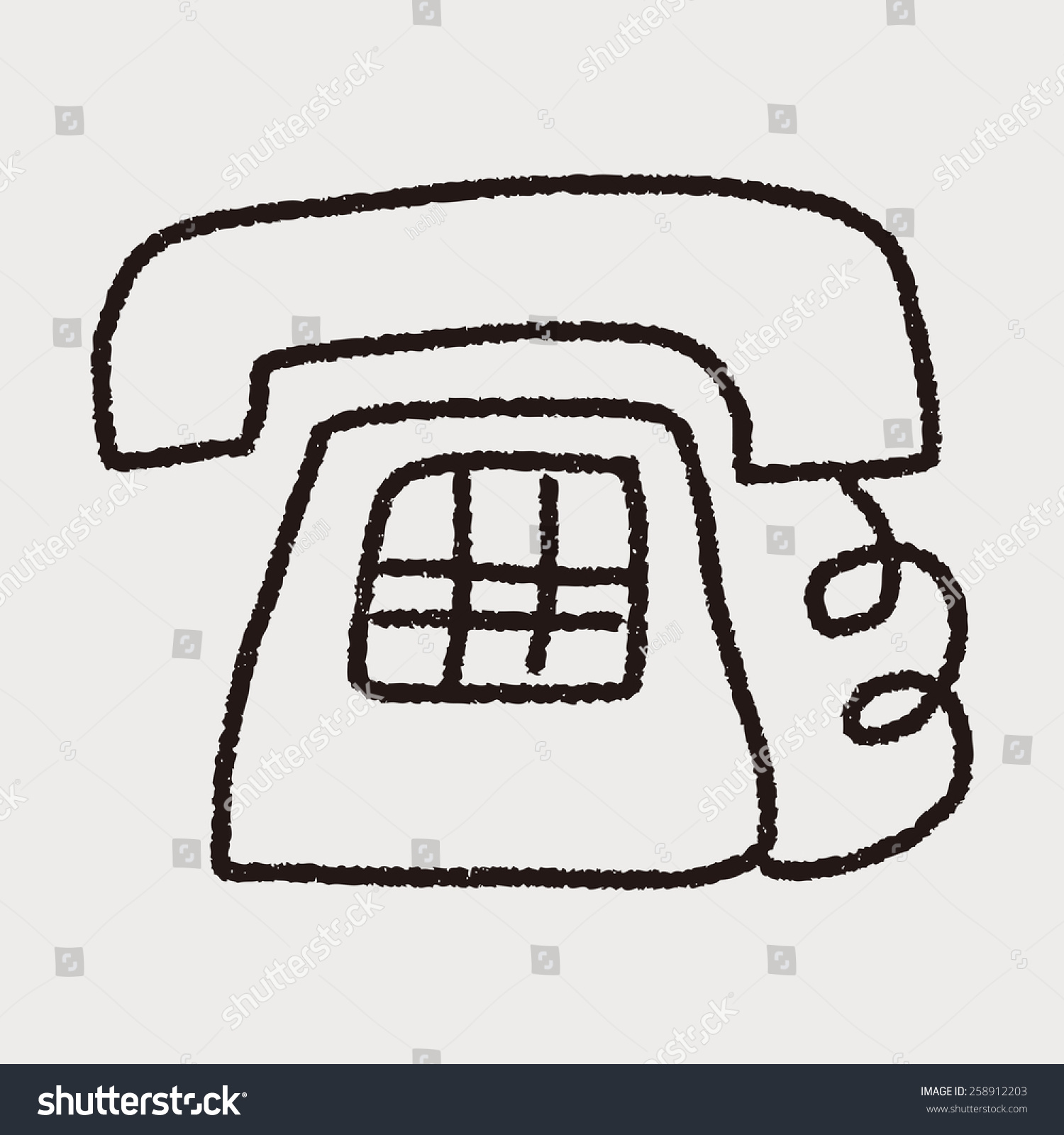 telephone doodle drawing stock illustration 258912203 shutterstock