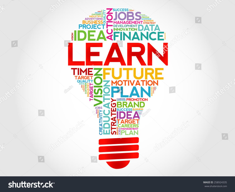 Learn Bulb Word Cloud Business Concept Stock Vector 258924335 ...