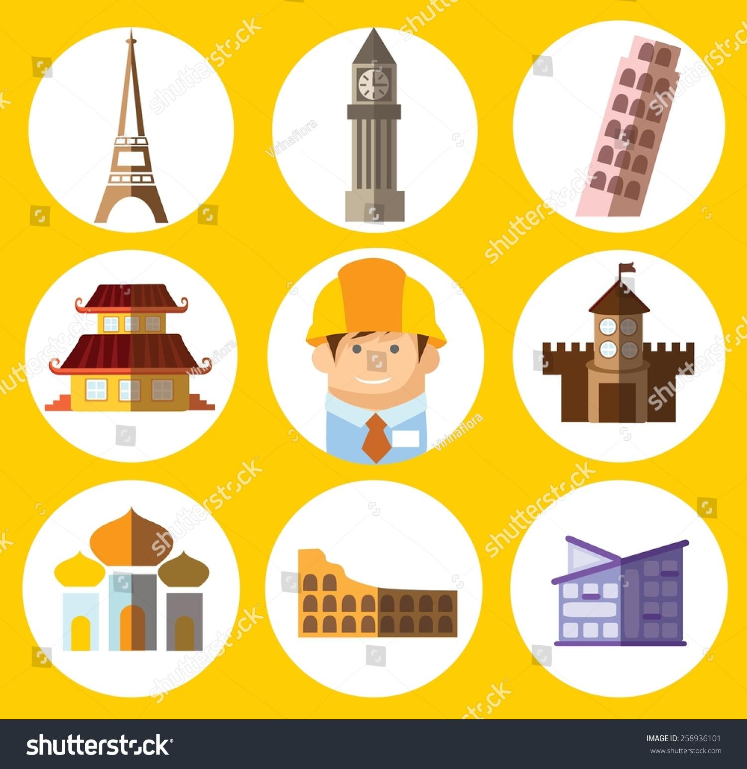 builder concept flat icon career infographic design elements vector illustration