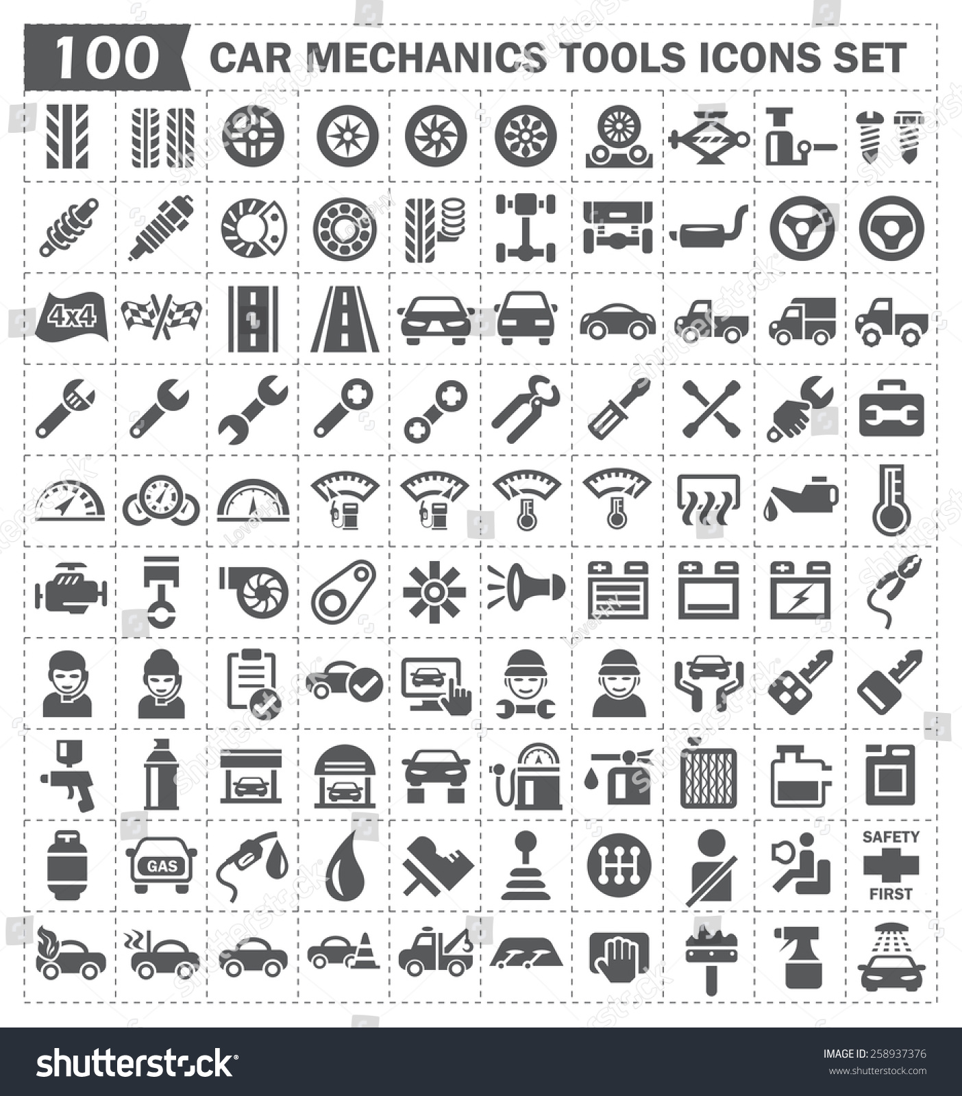 Tools Names And Pictures Mechanic 100 icons of car mechanics tools and. Watch more like Auto Mechanic Tools Names