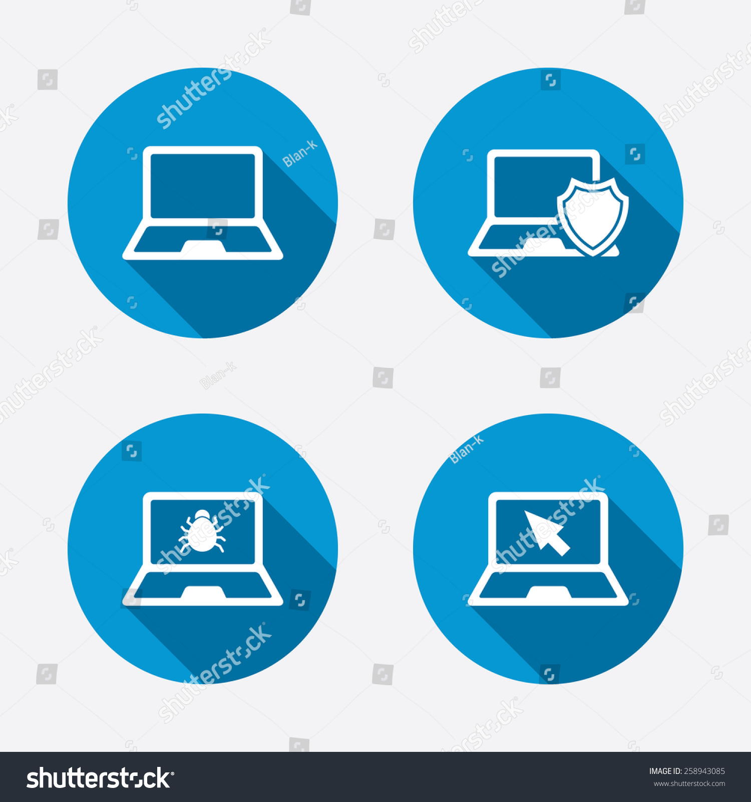 Image gallery software symbols Vector image software