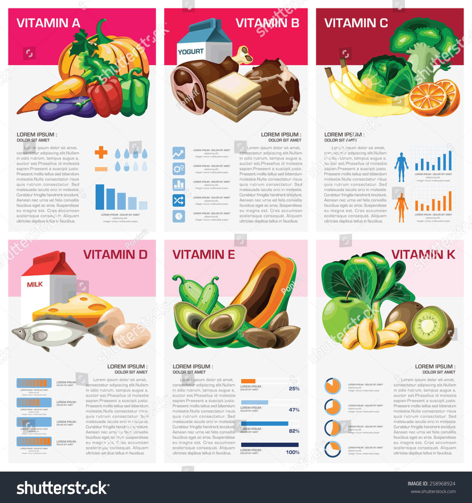Health Medical Vitamin Chart Diagram Infographic Stock Vector ...