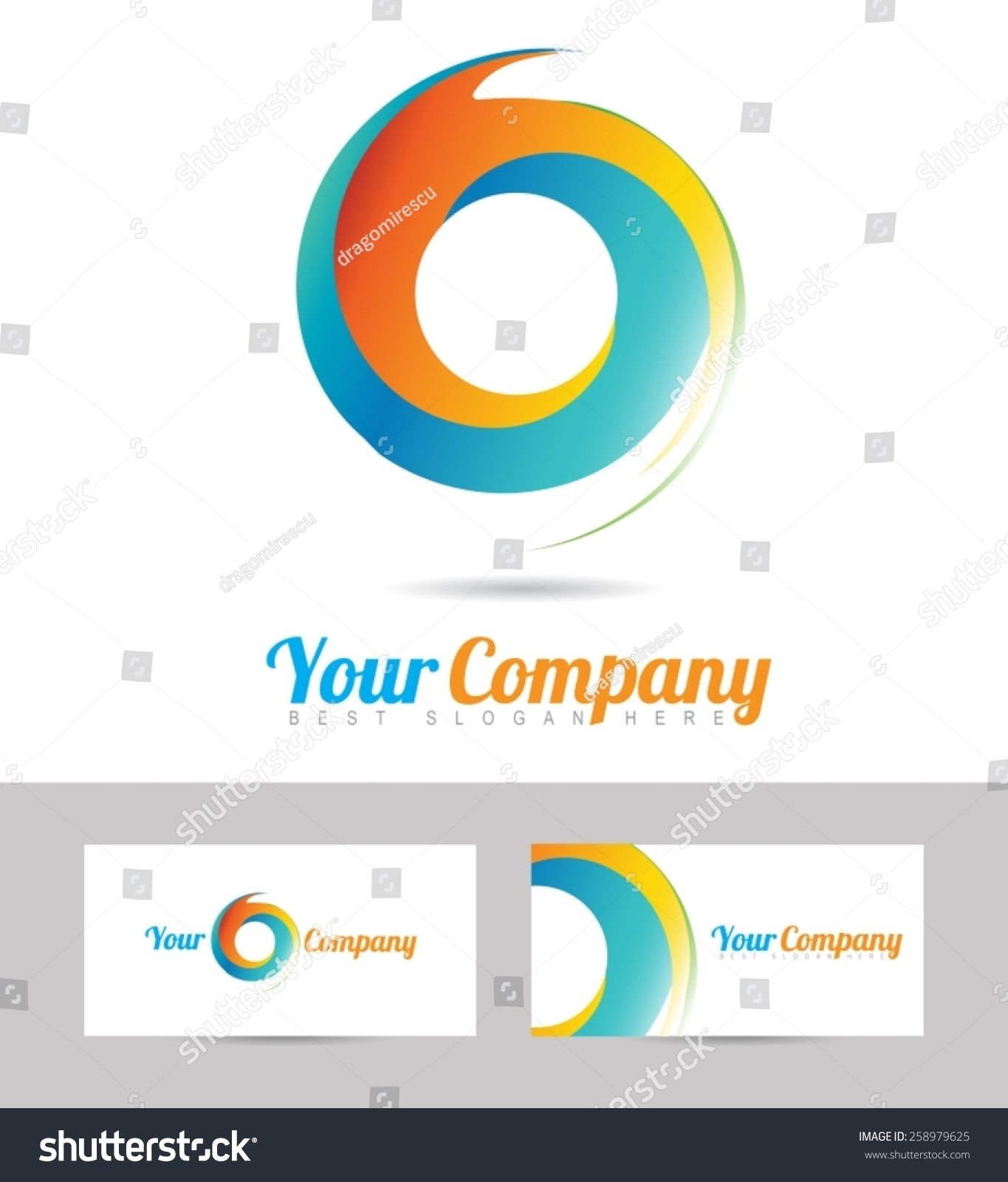 circle business card template image collections templates