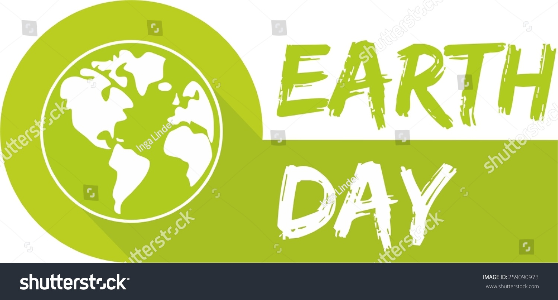 earth day vector icon green planet stock vector 259090973