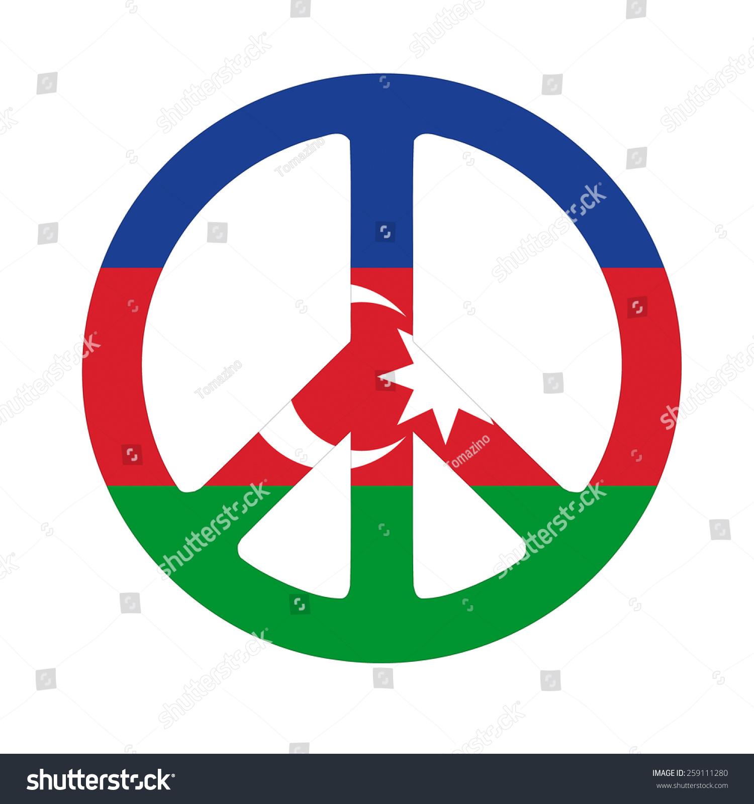 Azerbaijan peace symbol flag stock illustration 259111280 azerbaijan peace symbol flag biocorpaavc