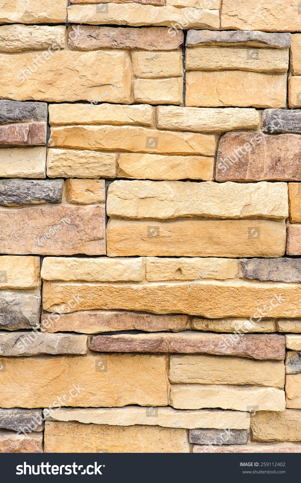 pattern of decorative brown grey slate stone wall surface ...