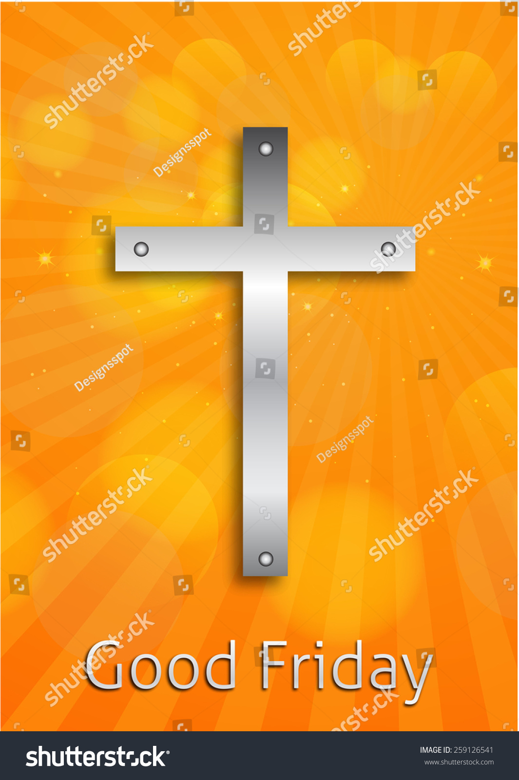 Beautiful Card Colorful Religious Background For Good Friday Brochure  Template Design.