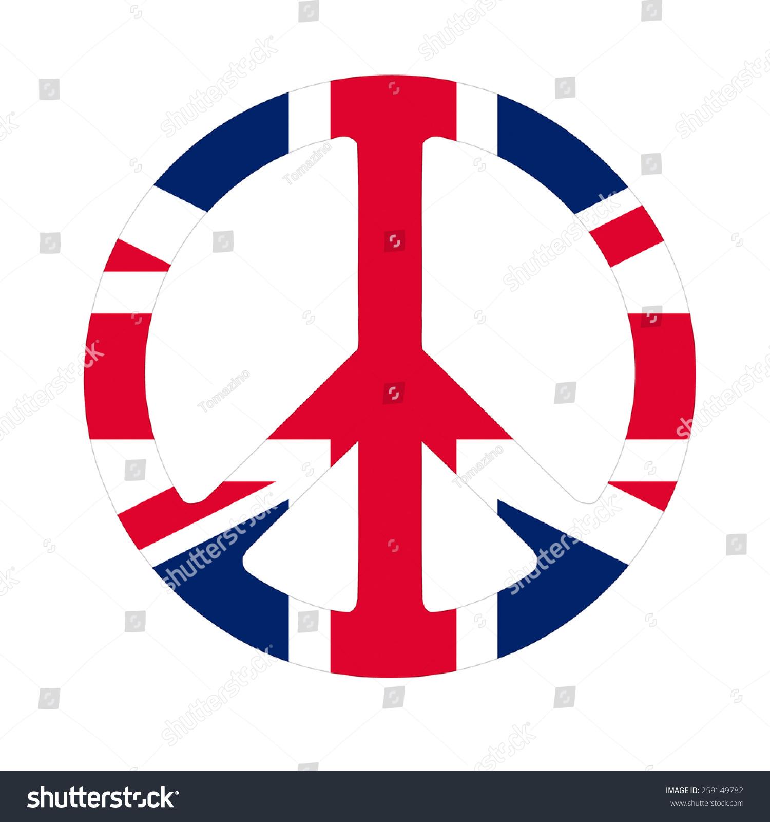 Great britain peace symbol flag stock illustration 259149782 great britain peace symbol flag biocorpaavc