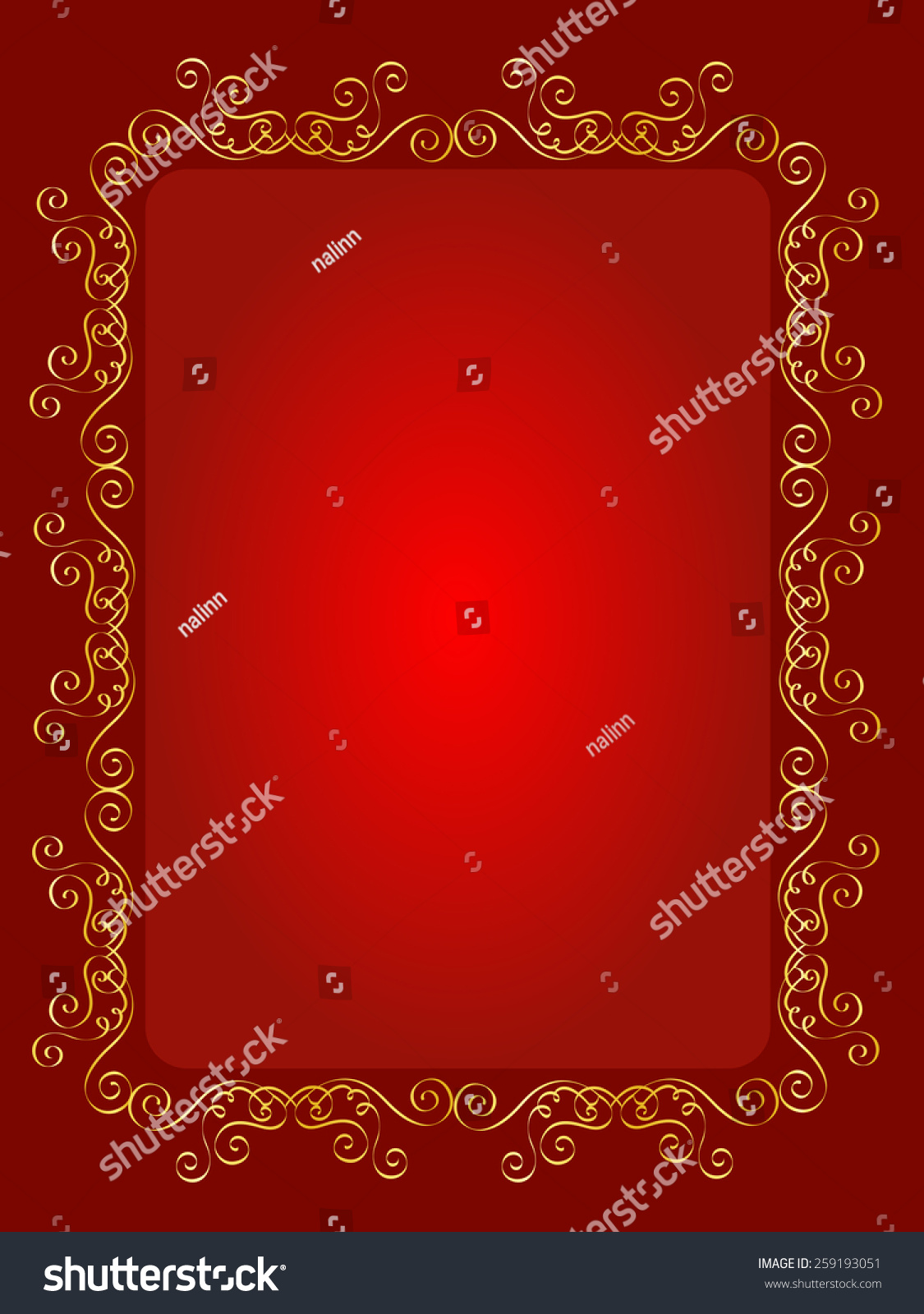 Elegant Gold Red Maroon Color Blank Stock Illustration 259193051 ...