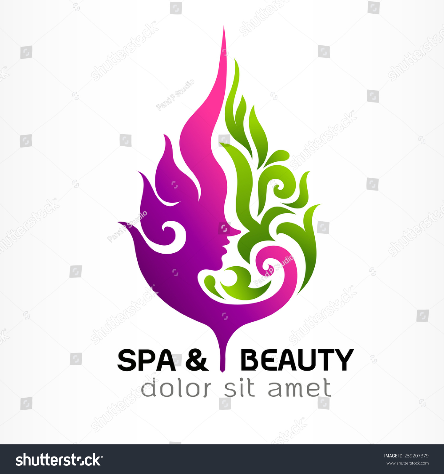Spa beauty nature symbols concept abstract stock vector for Abstract beauty salon