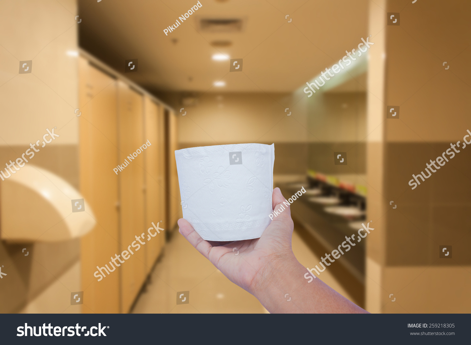 Hand Hold White Toilet Paper Latrine Stock Photo (Edit Now ...