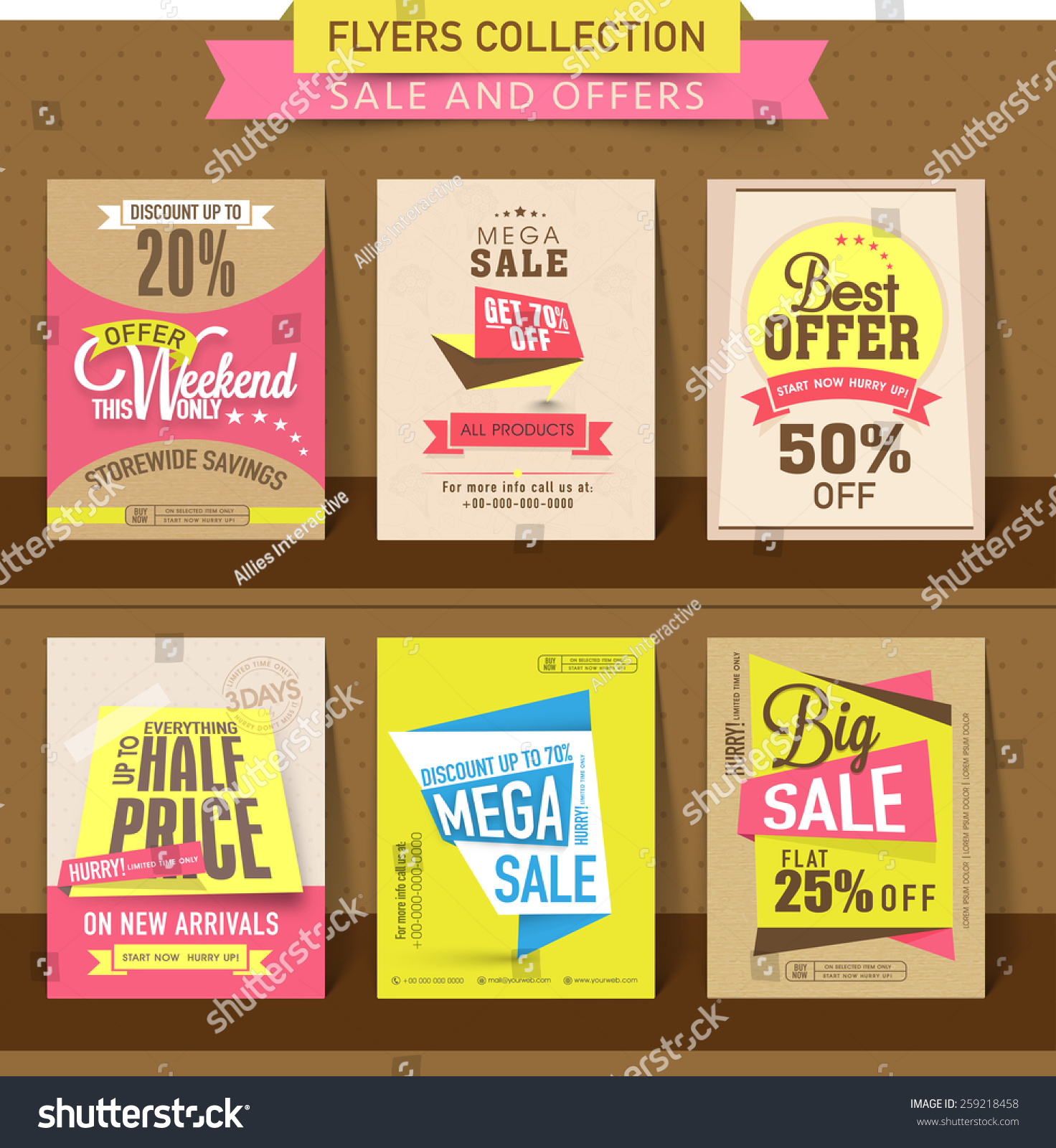 Set Mega Sale Flyer Poster Banner Vector 259218458 – Sale Flyer Design