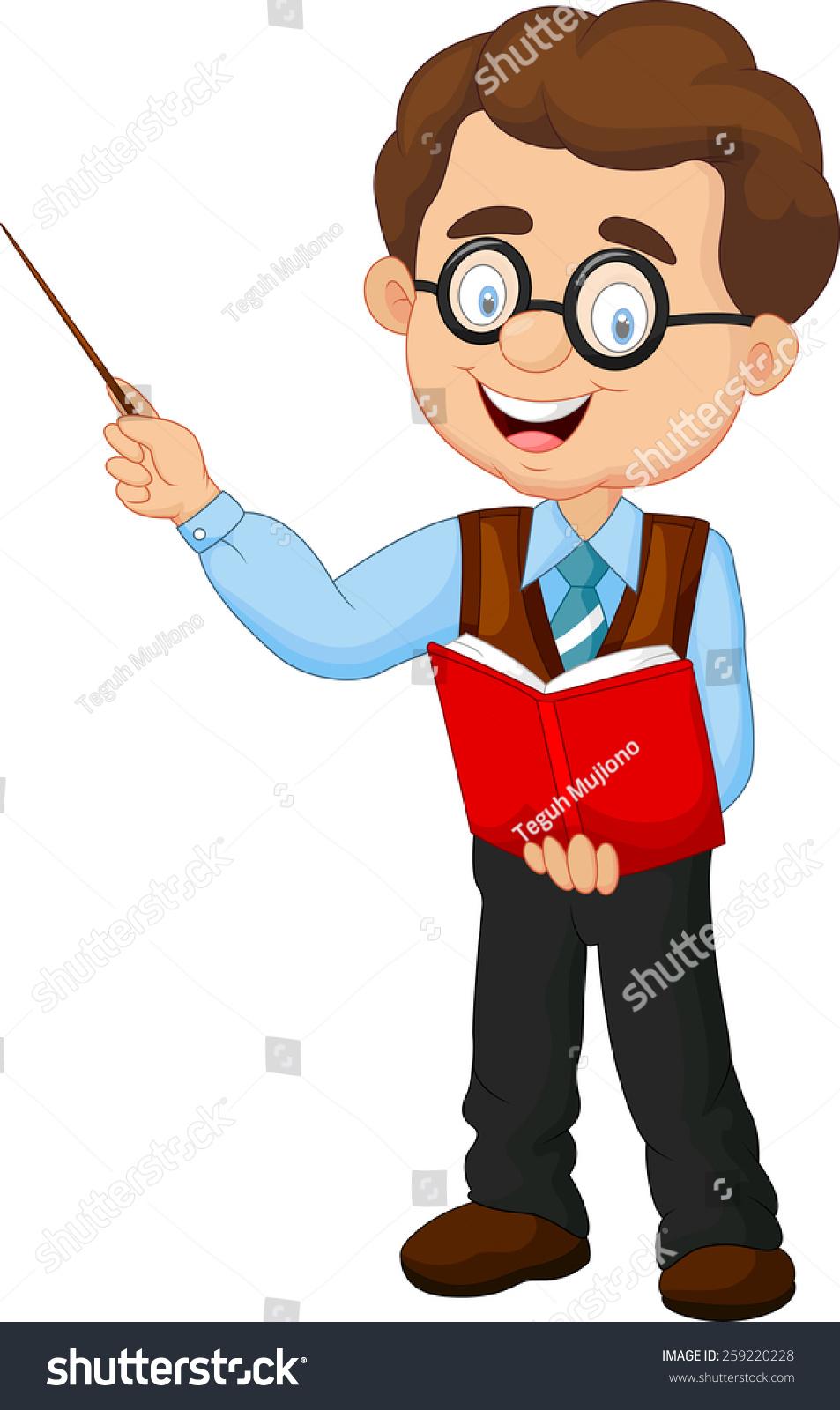 cartoon male teacher stock vector 259220228 shutterstock
