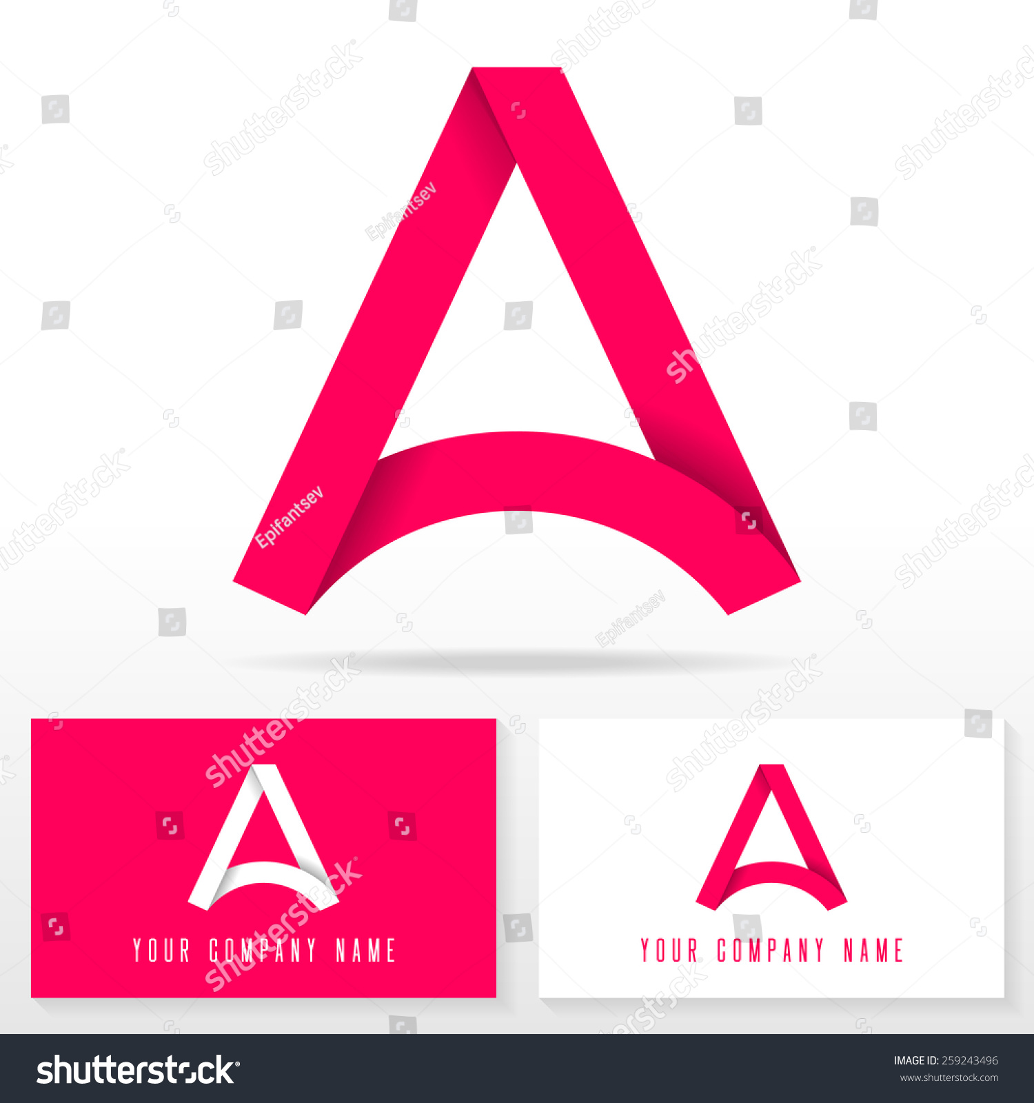 letter a logo icon design template elements vector sign business card templates