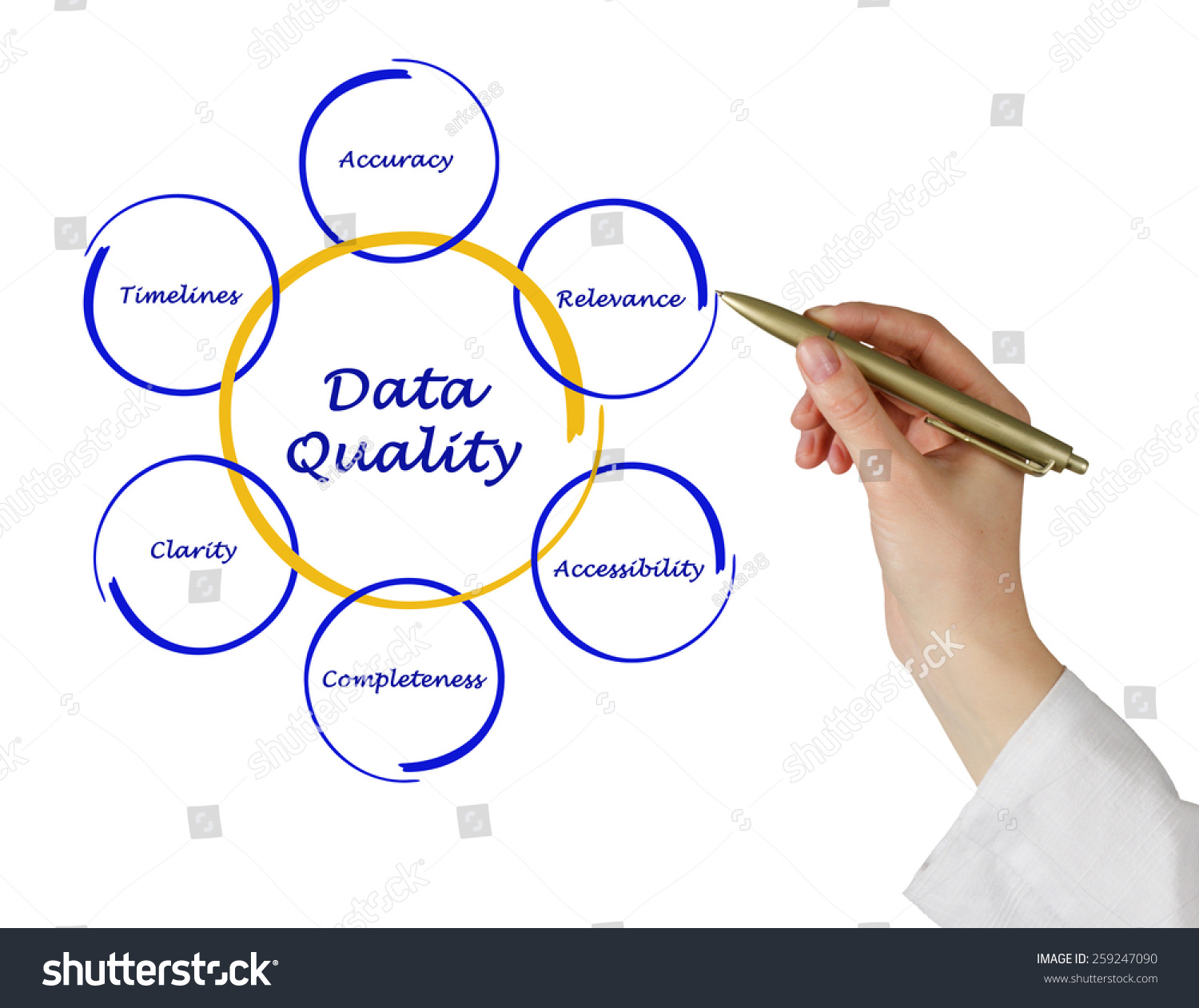 Diagram Of Data Quality Stock Photo 259247090   Shutterstock