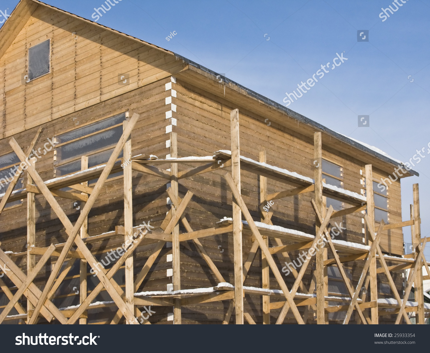 how to build a wood scaffold tower