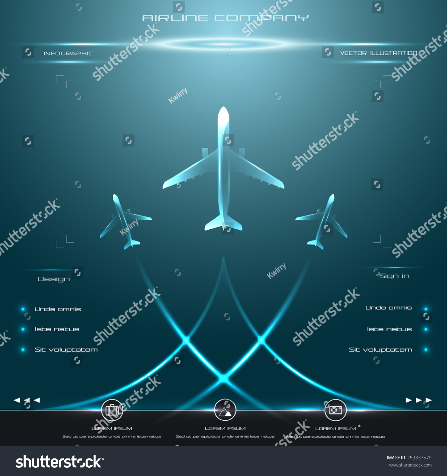 Stock Vector Business Avia Card With Airplane Whirlwind Of For Travel Agencies Aviation Photo Editor