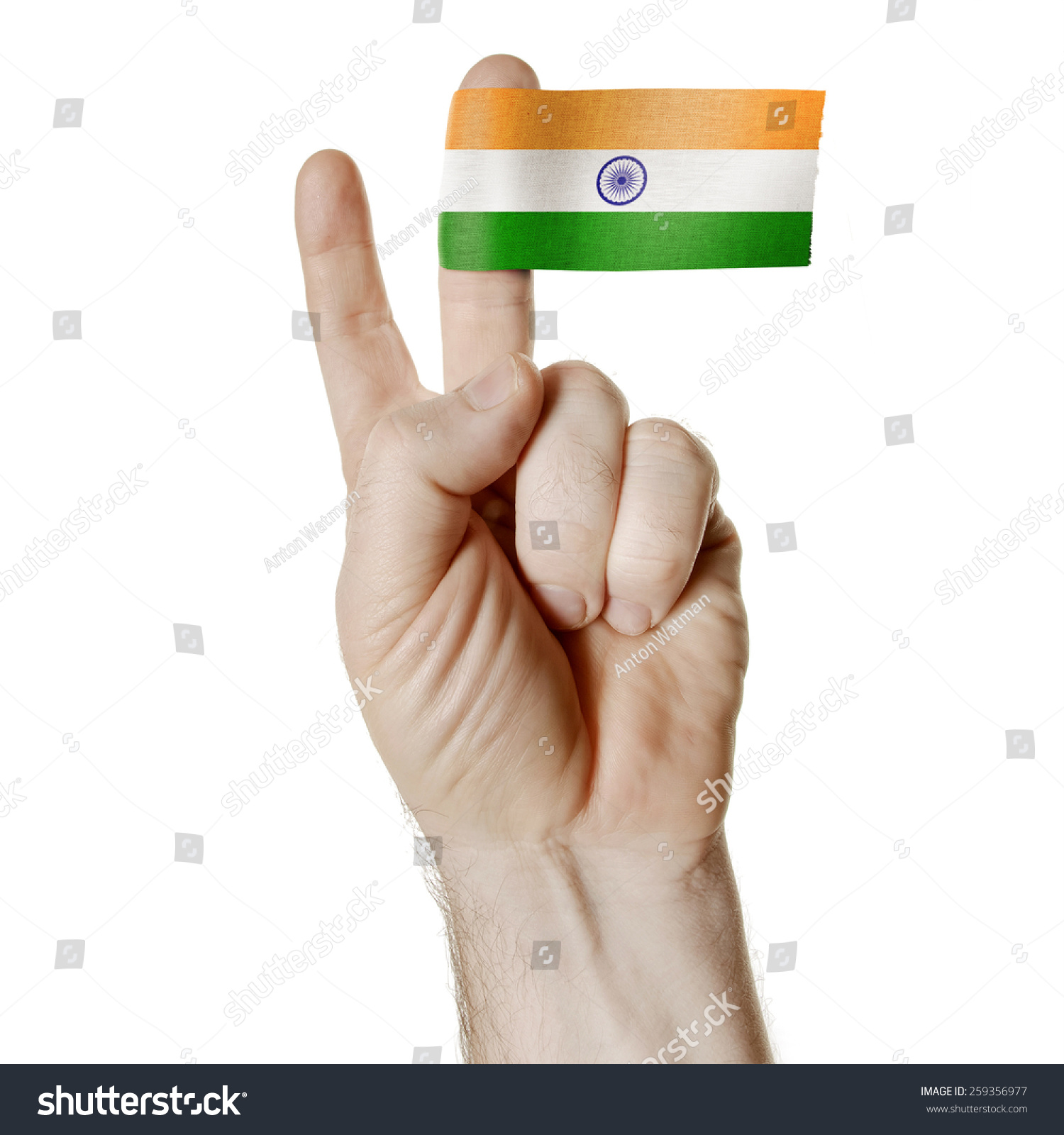 National Symbol Victory Hand Two Fingers Stock Photo Edit Now