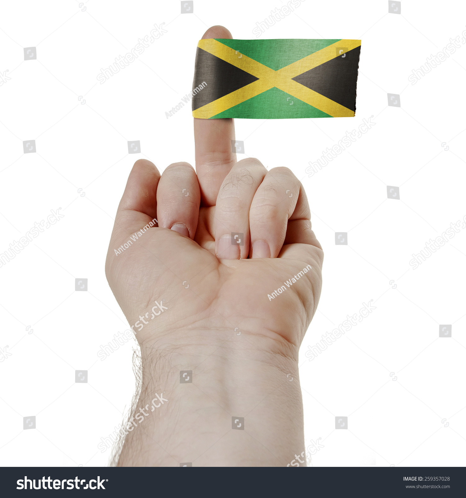 Symbol Challenge Middle Finger Flag Jamaica Stock Photo Edit Now