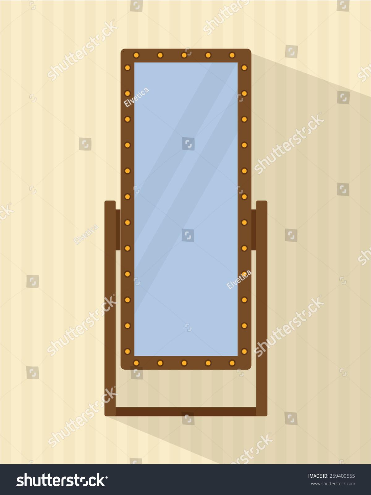 Big full length mirror for bedroom shops backstage flat for Big full length mirror