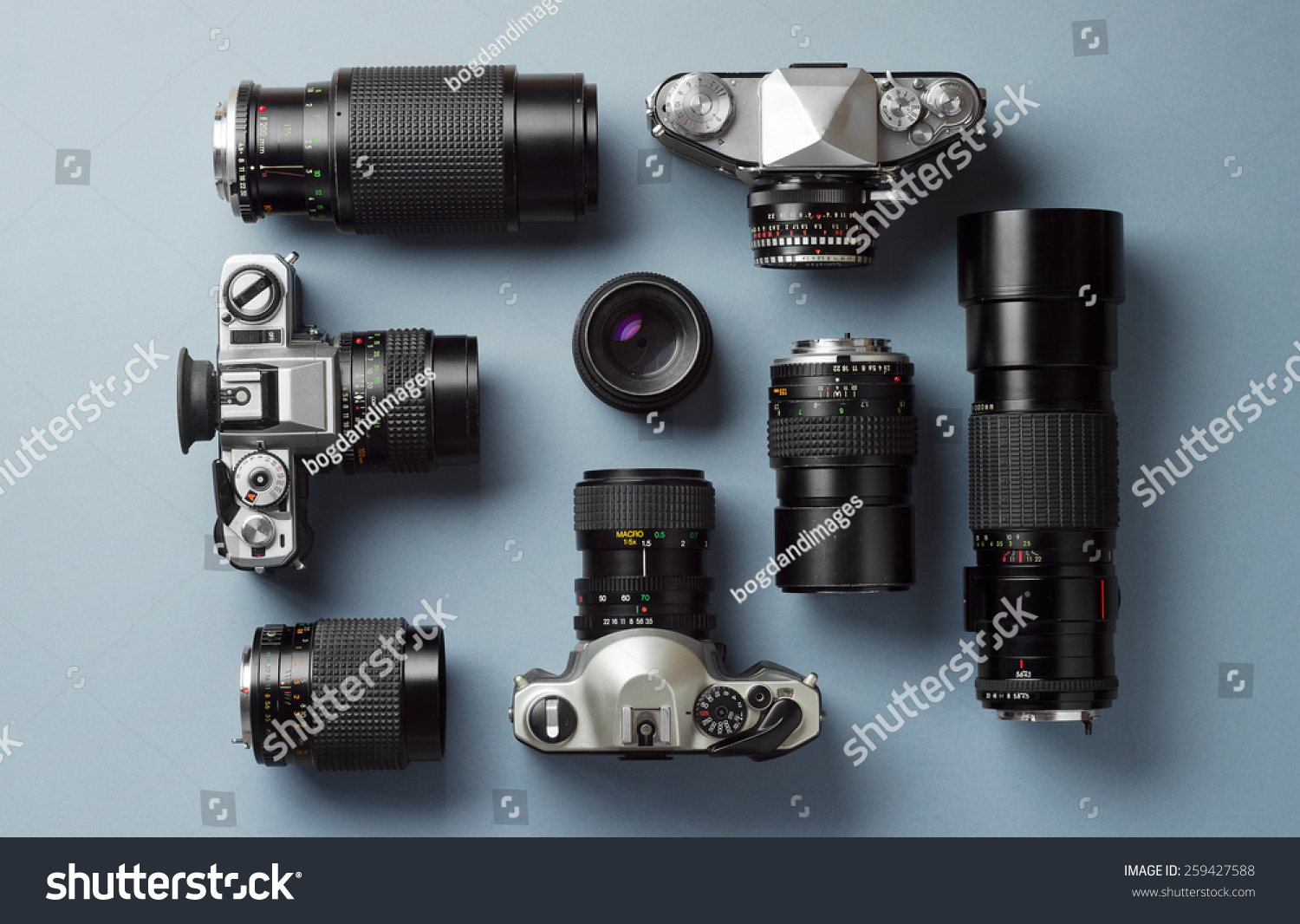 Collection Vintage Cameras Camera Lens Well Stock Photo (Royalty Free)  259427588   Shutterstock