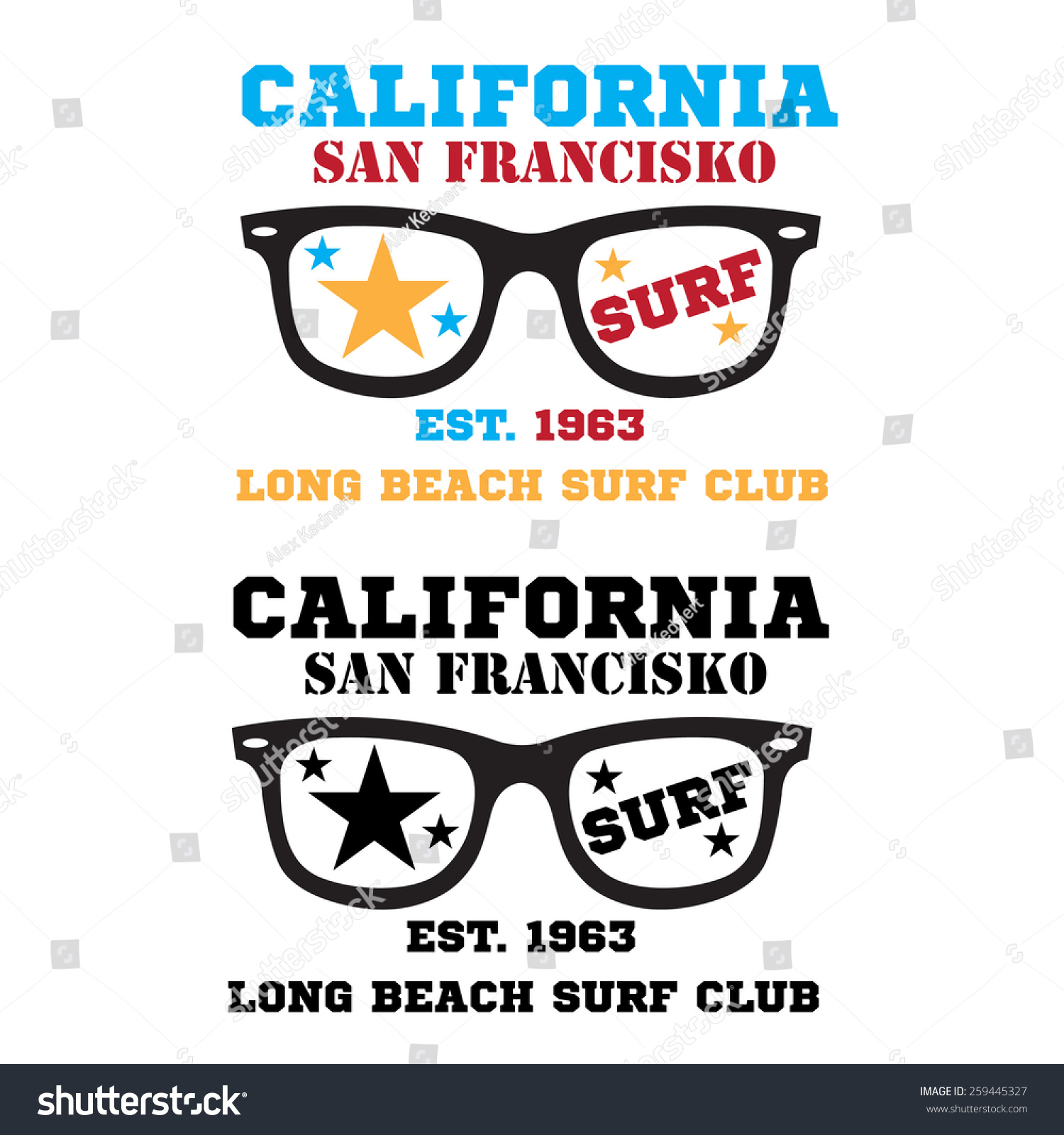 0bcce486c711 Royalty-free California surf typography logo t-shirt…  259445327 ...