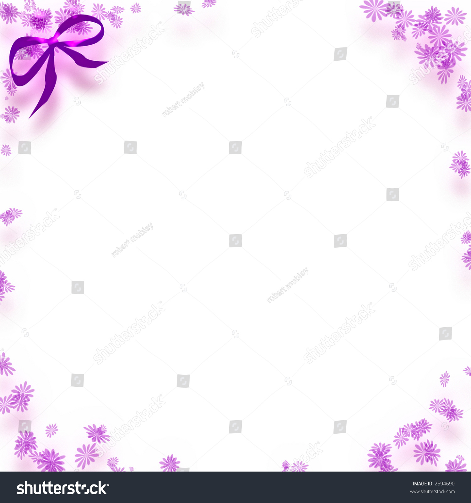 White note paper flower border bowcardclipart stock illustration white note paper with flower border and bowcardclip art mightylinksfo