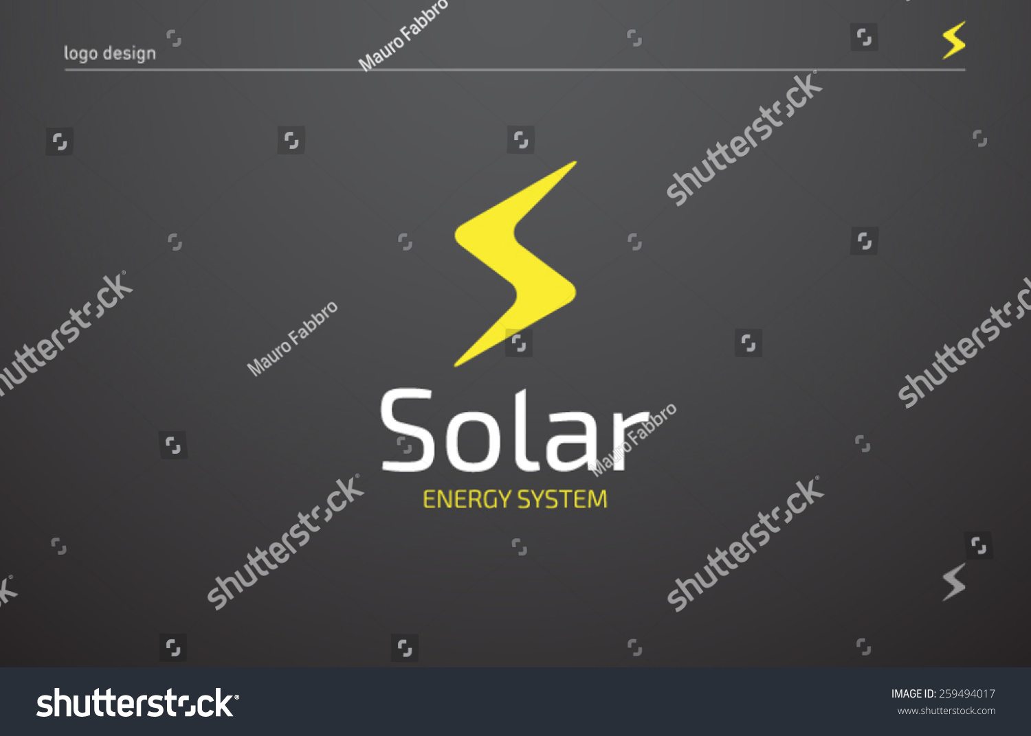 logo template solar panels technology company stock vector 259494017 shutterstock. Black Bedroom Furniture Sets. Home Design Ideas